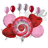 Circle of Love Happy Valentines Day Balloon Bouquet