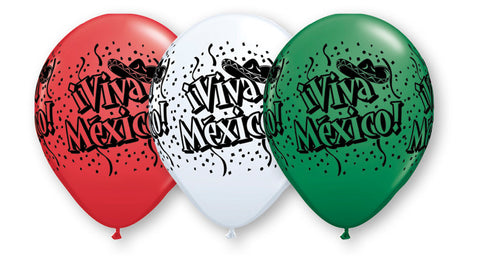 Qualatex Viva Mexico Latex Balloons