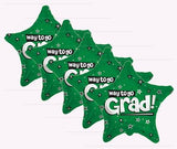 Green Way to Go Grad Star Balloon