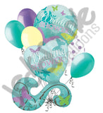 Butterfly Wedding Shower Balloon Bouquet