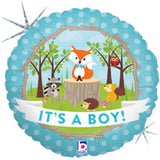 Woodland Raccoon It's a Baby Boy Animal Balloon Bouquet