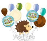 Woodland Hedgehog It's a Baby Boy Animal Balloon Bouquet