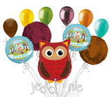 Woodland Owl It's a Baby Boy Animal Balloon Bouquet