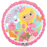 Woodland Princess & Fox Happy Birthday Balloon Bouquet