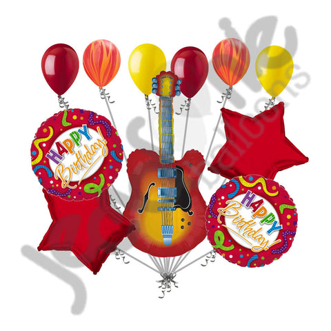 Acoustic Guitar Happy Birthday Balloon Bouquet