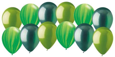 Frogs & Bugs Inspired Green Latex Balloons