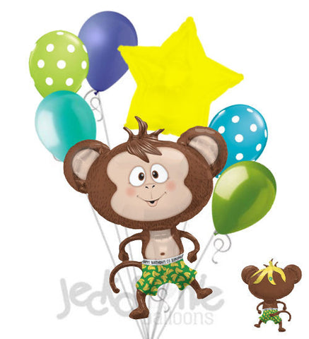 Silly Monkey & Banana Balloon Bouquet