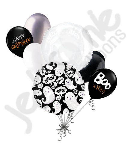 Boo! Ghost Collage Halloween Balloon Bouquet