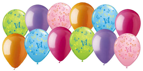 Bright & Colorful Butterflies Latex Balloons