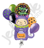 Trick or Treat Cat Costume Halloween Balloon Bouquet