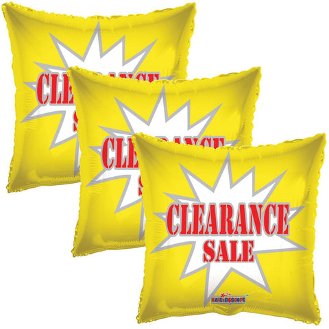 Yellow Clearance Starburst Square Promotional Balloon