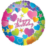 Bright & Colorful Hearts Happy Birthday Balloon Bouquet
