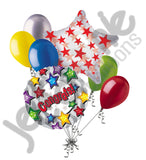Colorful Stars Congrats Balloon Bouquet