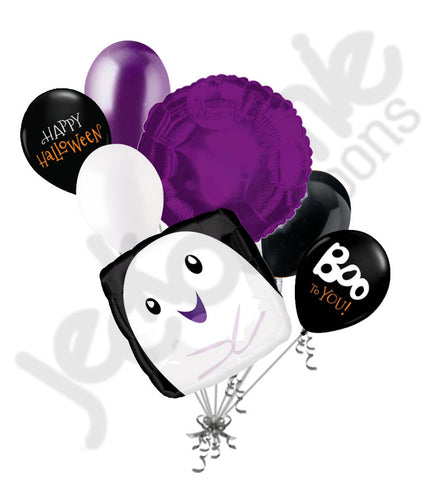 Adorable Boo Ghost Halloween Balloon Bouquet