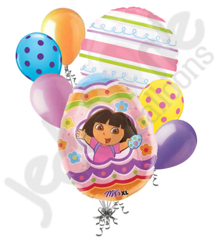 Dora the Explorer Painted Egg Happy Easter Balloon Bouquet