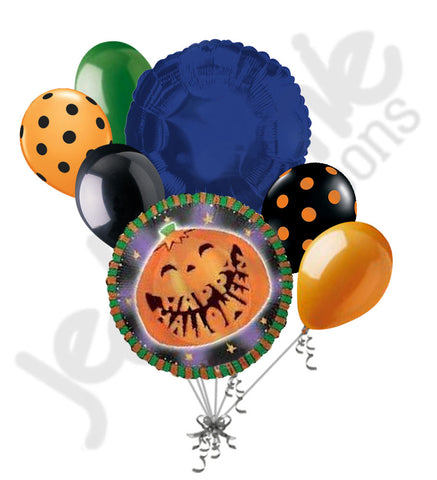 Funny Pumpkin Happy Halloween Balloon Bouquet
