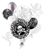 Ghostly Webs & Skull Happy Halloween Balloon Bouquet