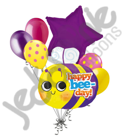 Happy Bee-Day Birthday Balloon Bouquet