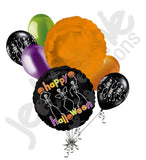 Dancing Skeletons Happy Halloween Balloon Bouquet