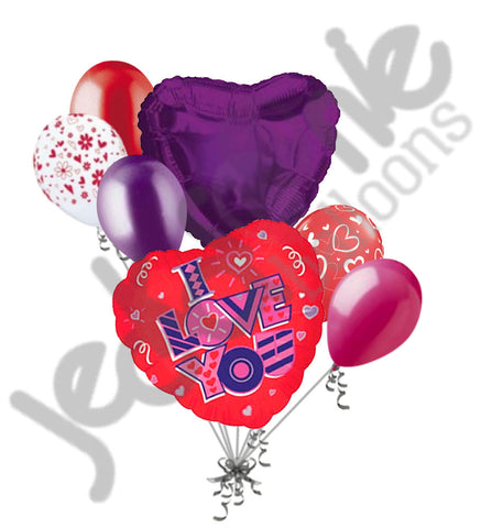 Child Scribbles Heart I Love You Balloon Bouquet