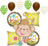 Welcome Baby Monkey Brown Gender Neutral Balloon Bouquet
