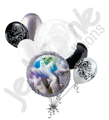 Mostly Ghostly Graveyard Halloween Balloon Bouquet