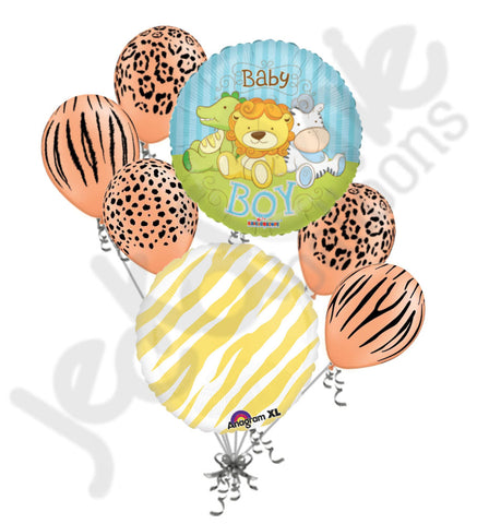Baby Boy Jungle Babies Balloon Bouquet