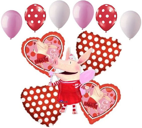 Olivia Pig One of a Kind Balloon Bouquet
