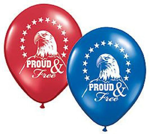 Proud & Free Patriotic Eagle Latex Balloons