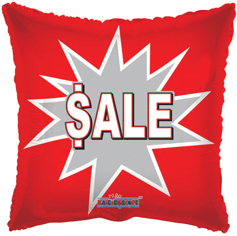 Red Sale Square Promotional Balloon