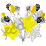 *~MANY COLORS~* Elegant Filigree & Colorful Stars Balloon Bouquet