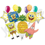 Spongebob, Patrick, & Pineapple Balloon Bouquet