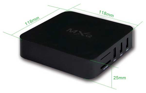 Medidas del Android TV Box