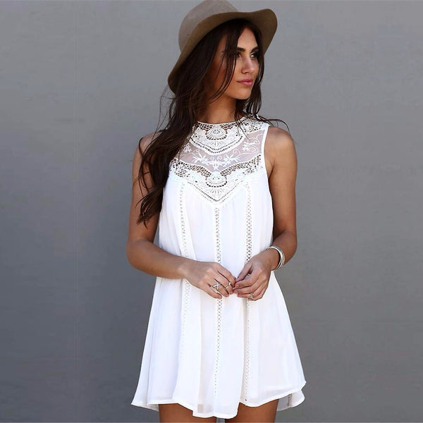 Summer Crochet Mini Dress