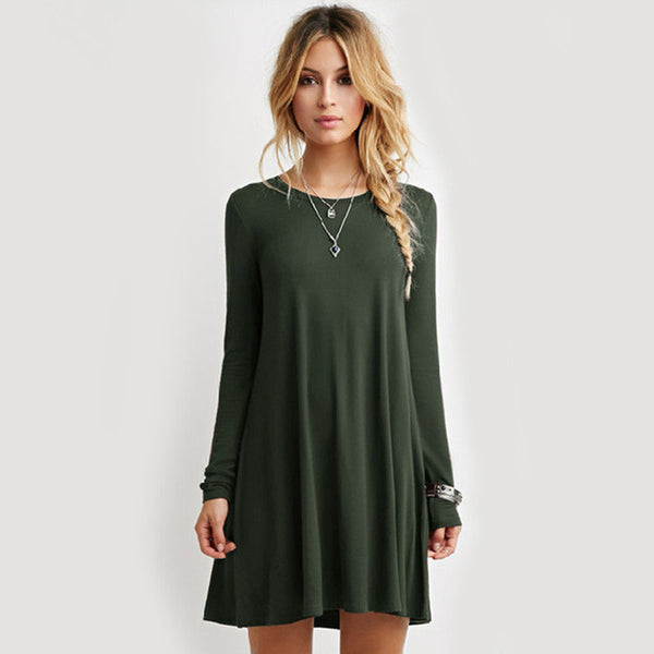 Loose Casual Mini Dress