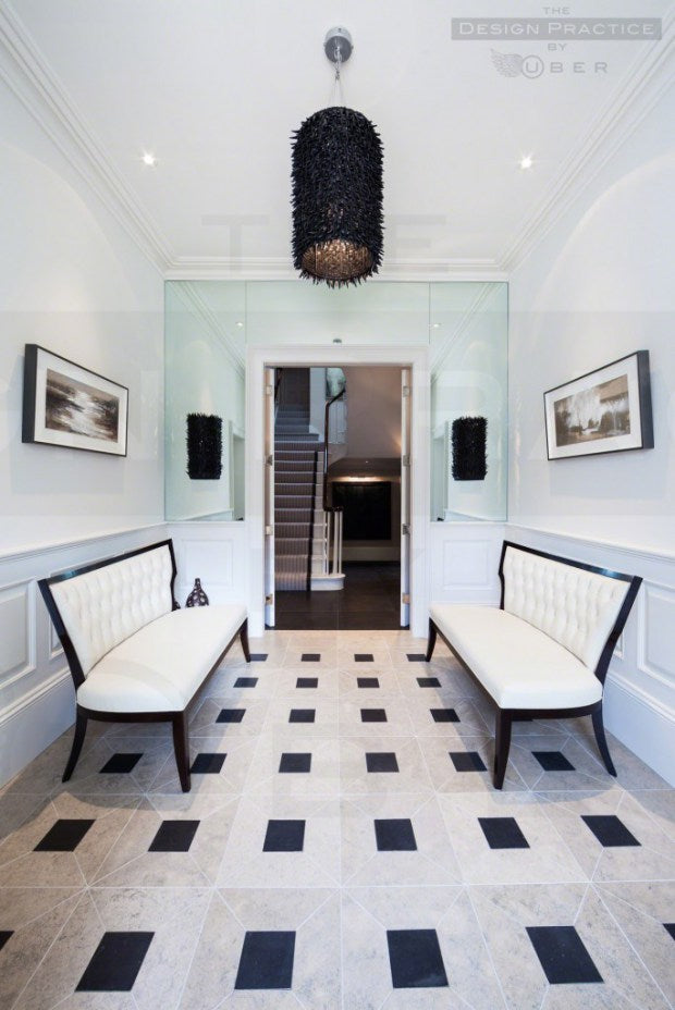 The Vicarage modern entrance hall - Design Practice by Uber