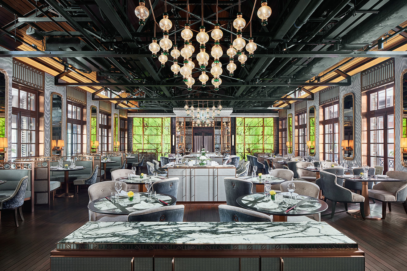 AB Concept designs Aqua Restaurant Group's The Chinese Library at the former Central Police Station in Hong Kong