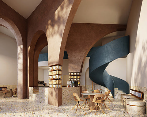 AZAZ Architecture design the Deco Temple, Elixir Bunn Coffee Roaster's Riyadh location