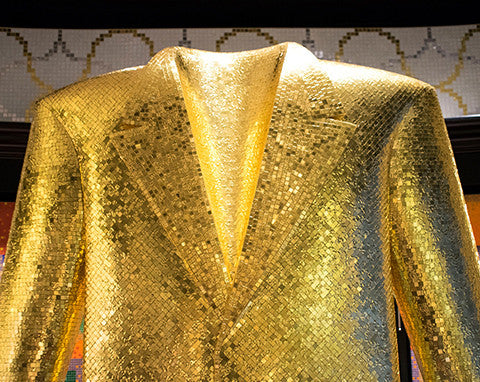 ALessandro Mendini for Bisazza gold mosaic suit jacket