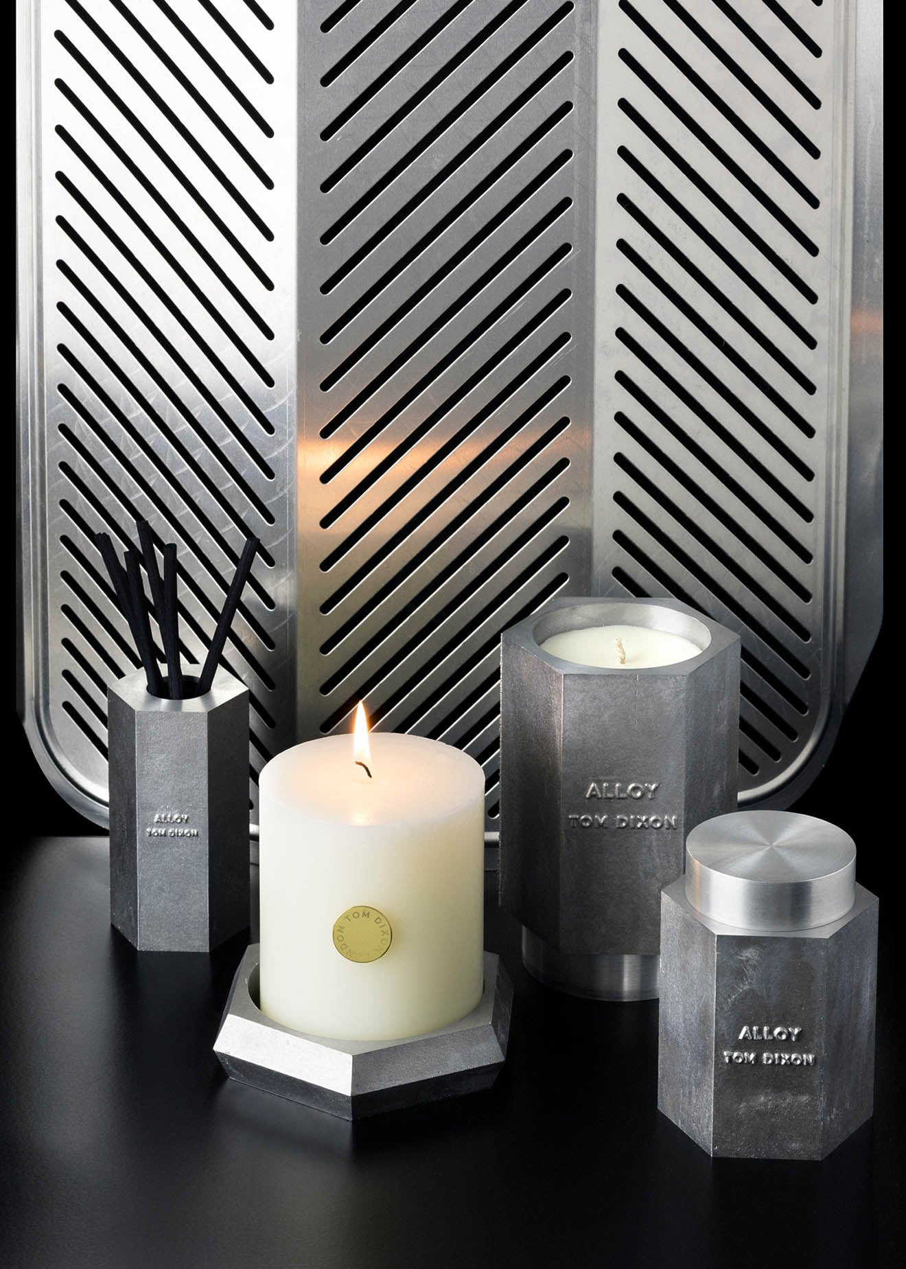 Tom Dixon Alloy collection of scents and candles
