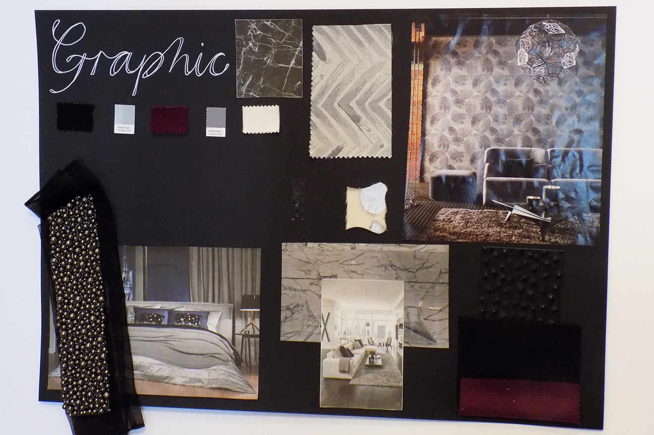 Amara Graphic style home decoration mood board