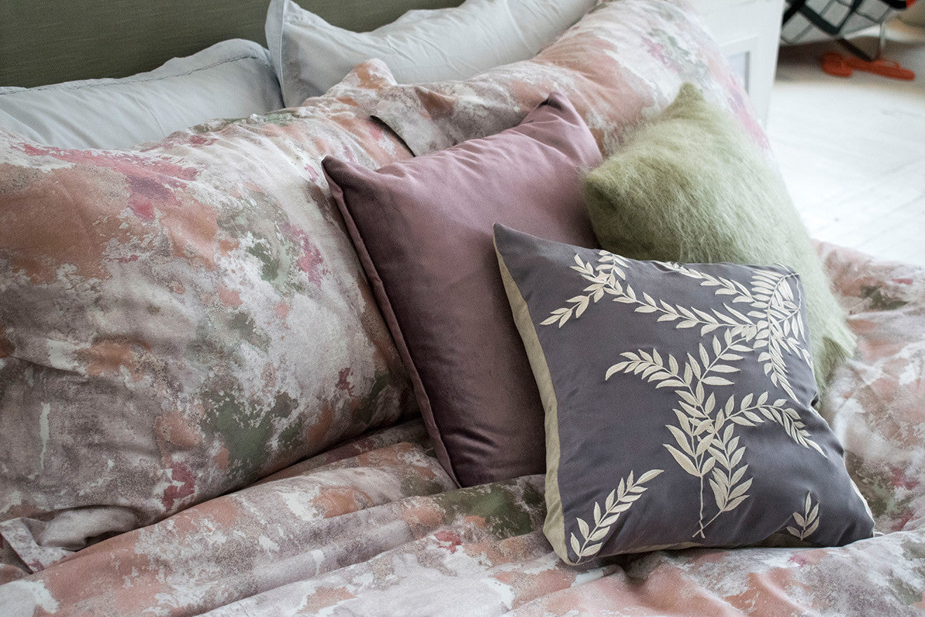 soft pink, purple and green bedding by Amara Own Label