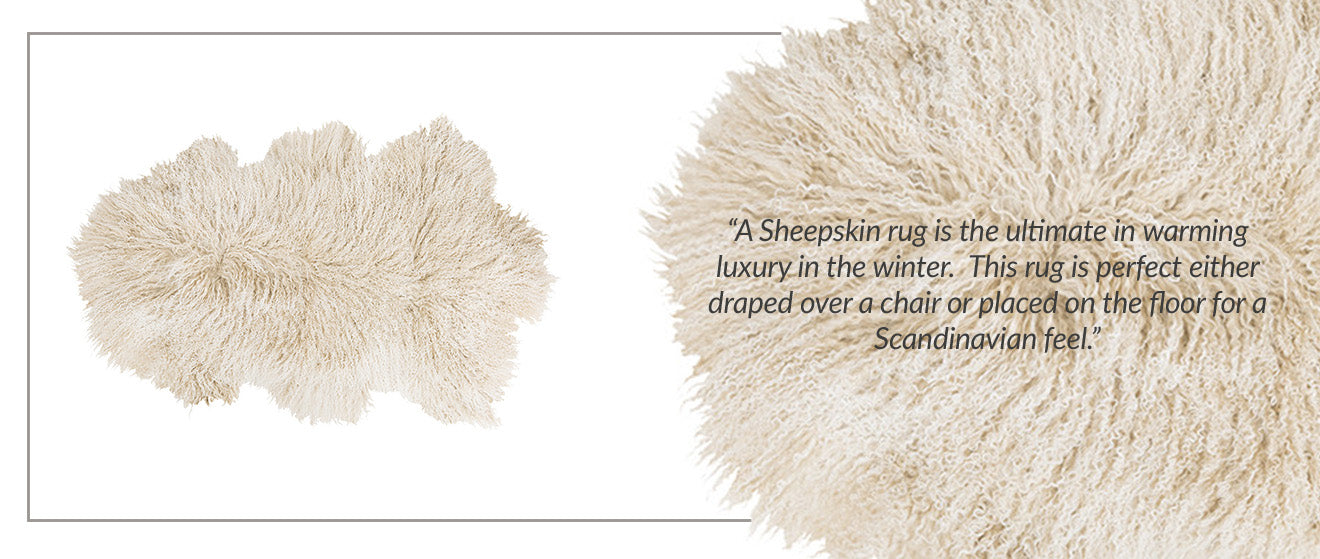 Amara Lewes Sheepskin Rug Artic Sunrise Winter Selection