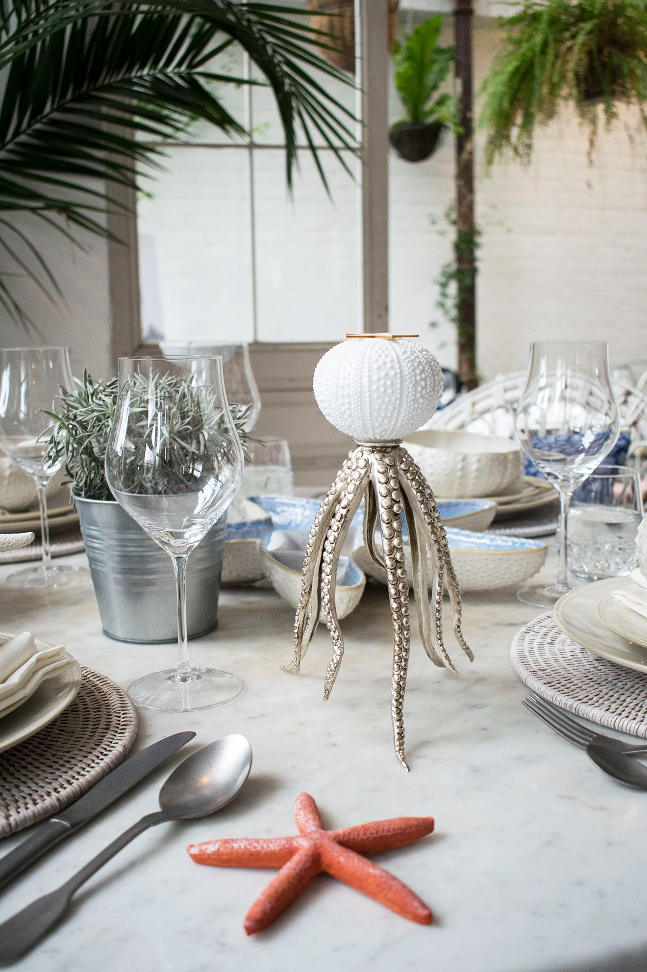 Amara own label maritime beach side home collection with urchin style candle holder