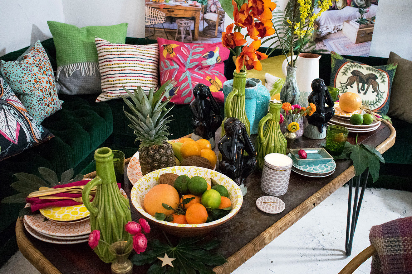 Bazaar collection of vibrant home accessories from Amara own label