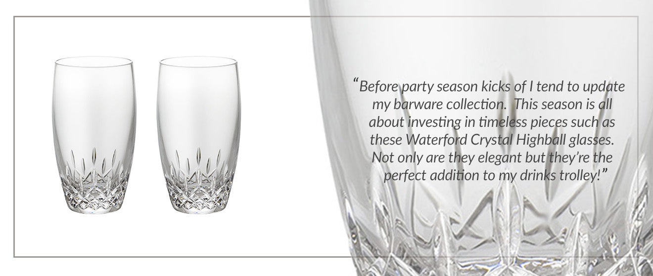 Amara Waterford Lismore Essence Highball Winter Decor