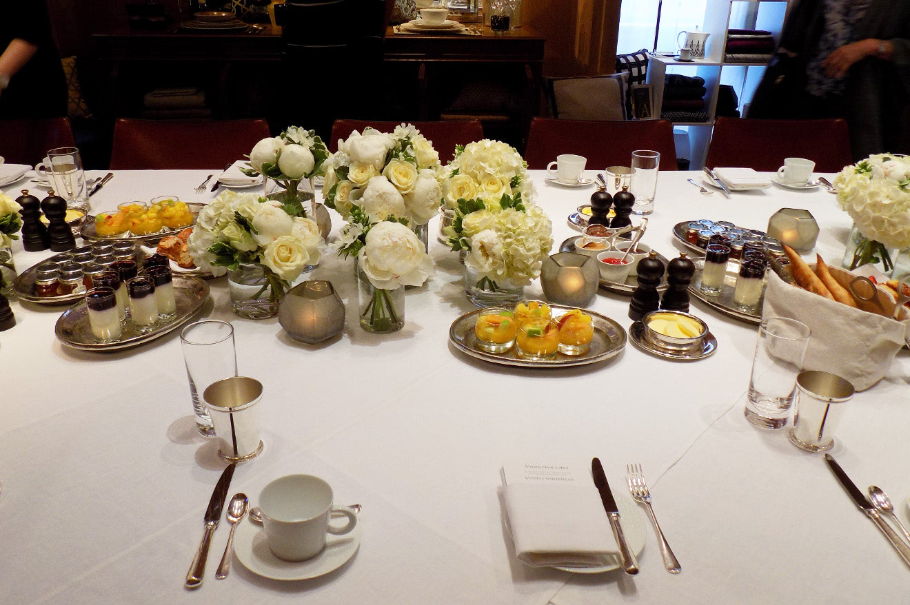 Luxury table setting at the Amara Living press breakfast