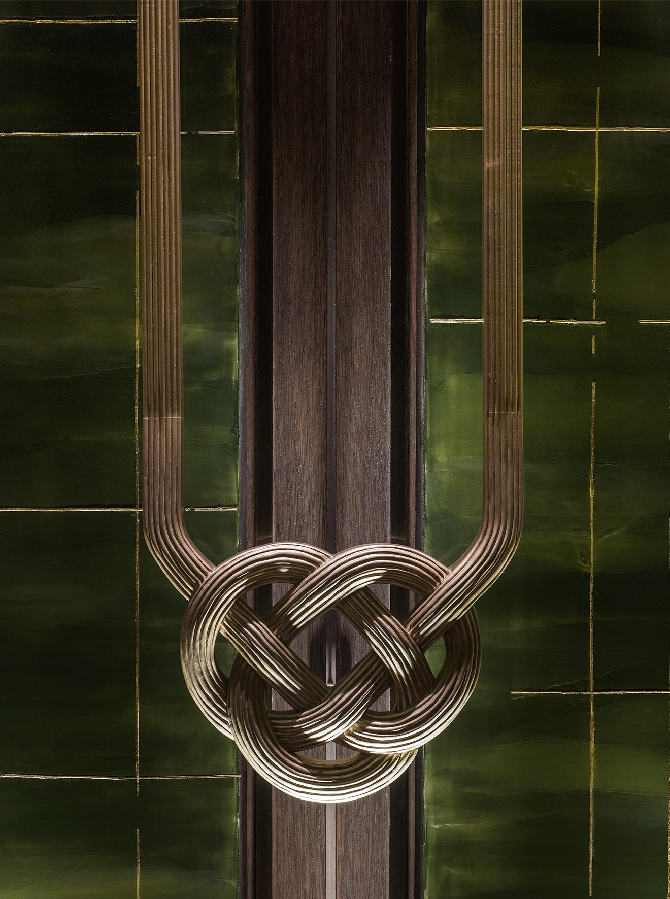 AFSO Andre Fu Interior Design Yu Yuan Restaurant green knot detail