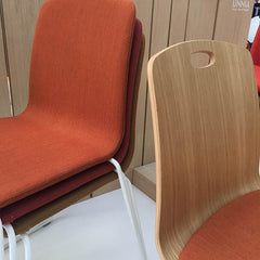 burnt orange upholstered chairs from in class