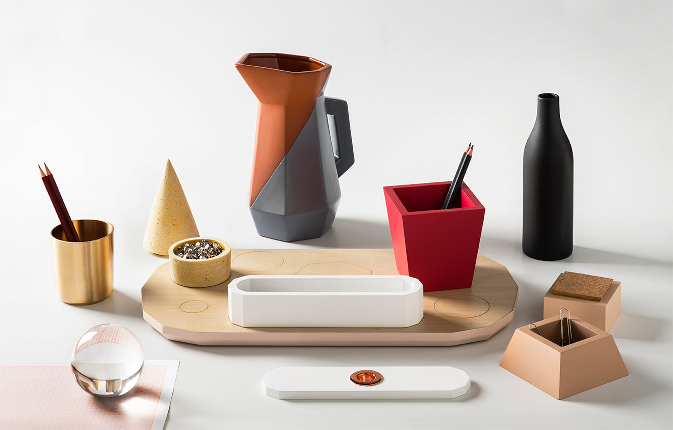 modern still life styled desk tidy designed by Antonio Aricò  for Seletti